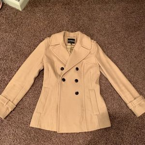 Express Wool Blend Peacoat